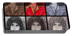 Marc Bolan Glam Rocker Collage Portable Battery Charger