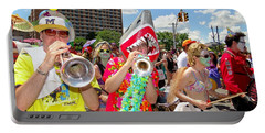 Portable Battery Charger featuring the photograph Marching Band by Ed Weidman