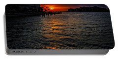 Marco Island Sunset 43 Portable Battery Charger by Mark Myhaver
