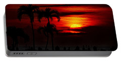 Marco Island Sunset 59 Portable Battery Charger by Mark Myhaver