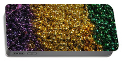 Mardi Gras Beads - New Orleans La Portable Battery Charger by Deborah Lacoste