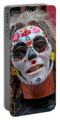 Mardi Gras Happy Face Portable Battery Charger by Luana K Perez