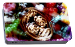 Portable Battery Charger featuring the photograph New Orleans Mardi Gras Madness In Louisiana by Michael Hoard