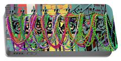 Portable Battery Charger featuring the photograph Mardi Gras On Fleur-de-lis by Luana K Perez