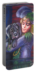 Mardi Gras Puppy Portable Battery Charger