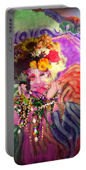 Mardi Gras Queen Portable Battery Charger
