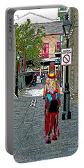 Mardi Gras In French Quarter Portable Battery Charger by Luana K Perez