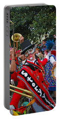 Mardi Gras Storyville Marching Group Portable Battery Charger by Luana K Perez