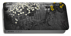 Marguerites And Bicycle Portable Battery Charger