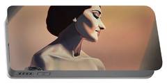 Maria Callas Painting Portable Battery Charger