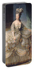 Marie Antoinette Queen Of France Portable Battery Charger by Elisabeth Louise Vigee-Lebrun