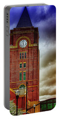 Portable Battery Charger featuring the photograph Marietta Clock Tower by Dennis Baswell