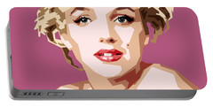 Marilyn Portable Battery Charger by Douglas Simonson