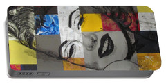 Marilyn In Abstract Portable Battery Charger by Malinda  Prudhomme