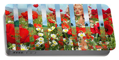 Marilyn In Poppies 1 Portable Battery Charger
