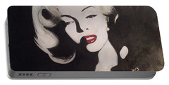 Marilyn In The Moonlight Portable Battery Charger