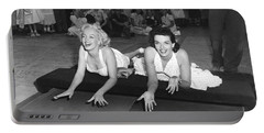 Marilyn Monroe And Jane Russell Portable Battery Charger by Underwood Archives