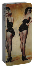Marilyn Monroe And Jane Russell Portable Battery Charger