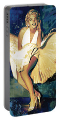 Marilyn Monroe Artwork 4 Portable Battery Charger by Sheraz A