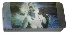 Marilyn Monroe At The Beach Portable Battery Charger