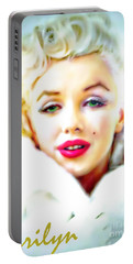 Marilyn Monroe Portable Battery Charger by Barbara Chichester