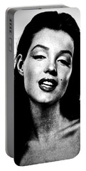 Marilyn Monroe--brunette Portable Battery Charger by Saundra Myles