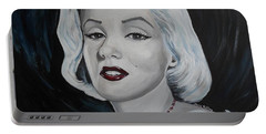 Portable Battery Charger featuring the painting Marilyn Monroe by Julie Brugh Riffey