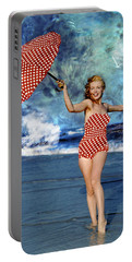 Marilyn Monroe - On The Beach Portable Battery Charger by EricaMaxine  Price