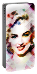 Marilyn Monroe Pastel Portable Battery Charger