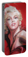 Marilyn Portable Battery Charger by Peter Suhocke