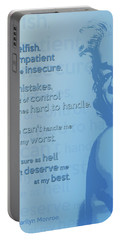 Marilyn Quote Portable Battery Charger