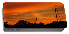 Portable Battery Charger featuring the photograph Marina Sunset by Deena Stoddard