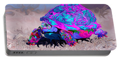 Marine Corporal's Turtle In Peace Paint V2 Portable Battery Charger