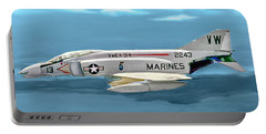 Marine F-4 Phantom  Painting Portable Battery Charger