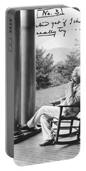 Mark Twain On A Porch Portable Battery Charger