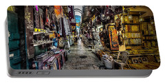 Market In The Old City Of Jerusalem Portable Battery Charger