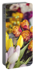 Market Tulips - Paris, France Portable Battery Charger
