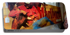 Marlboro Man Portable Battery Charger by Ed Weidman