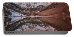 Maroon Bells Alpenglow Portable Battery Charger