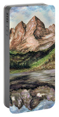 Maroon Bells Colorado - Landscape Painting Portable Battery Charger