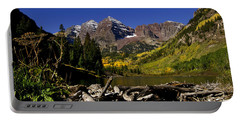 Portable Battery Charger featuring the photograph Maroon Bells by Jeremy Rhoades