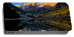 Maroon Bells Landscape Portable Battery Charger by Ronda Kimbrow