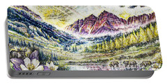 Maroon Bells  Portable Battery Charger by Scott and Dixie Wiley