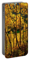 Maroon Lake Gold Portable Battery Charger by Jeremy Rhoades