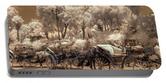 Marrakech Street Life - Horses Portable Battery Charger