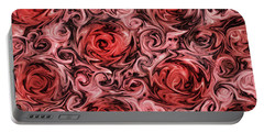 Marsala Roses Portable Battery Charger