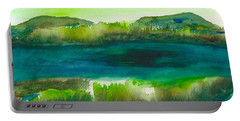 Marsh Abstract 3 By Frank Bright Portable Battery Charger