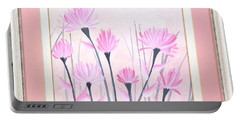 Marsh Flowers Portable Battery Charger by Ron Davidson