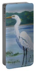 Marsh Land Egret Portable Battery Charger
