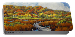 Marshlands In Fall By Prankearts Portable Battery Charger